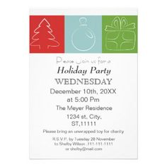 Elegant Holiday Party Invitation Christmas Holidays  Holiday