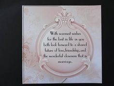 Elegant Wedding Shoe Verse Insert on Craftsuprint designed by June Harrop - made by Valerie Spowart - I printed out sheet onto matt photopaper, cut out round design to fit large square card, ready to insert when required. A lovely addition to cup532216_703, with a beautiful verse included, for a very special day. - Now available for download!