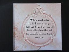 card sentiments Wedding Card Verses by Moonstone Treasures