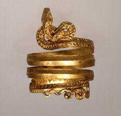 Spiral  gold snake ring, Greece, ca 2nd century B.C.