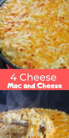Super creamy cheesy and decadent. A simple fail-proof 4 cheese mac and cheese recipe in under 50 minutes! 3 Cheese Mac And Cheese Recipe, Cheesy Mac And Cheese, Creamy Macaroni And Cheese, Cheese Recipes, Pasta Recipes, Pasta Meals, Pasta Dishes, Food Cravings, Baking Recipes