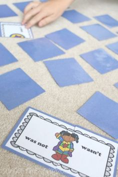 FREE Superhero Contractions Memory Game - great for 1st grade, 2nd grade, 3rd grade (homeschool, language arts)