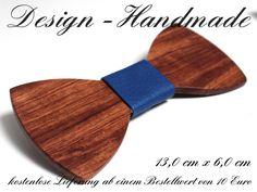 Fliegen - Holz Fliege Rosenholz Hochzeit Bräutigam Blau XL - ein Designerstück von Design-Handmade bei DaWanda Etsy, Design, Wooden Bow Tie, Groom Bow Ties, Wedding Groom, Guy Gifts, Handmade, Bows, Design Comics