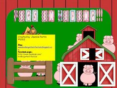 Pigs in Hiding (Fun 100th day lesson) -  Pinned by @PediaStaff – Please Visit http://ht.ly/63sNt for all our pediatric therapy pins