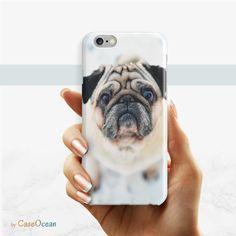 Pug phone case, iPhone 7 6 6s Plus phone case iPhone 5 5s SE pug phone case Samsung Galaxy S7 Edge S6 S5 S4 S3 pug phone case by CaseOcean on Etsy