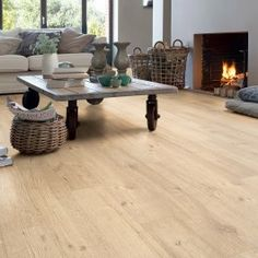 Quick-Step Impressive IM1853 Sandblasted Oak Natural Laminate Flooring Sample
