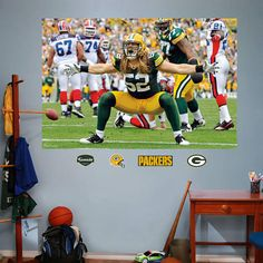 Fathead Green Bay Packers Clay Matthews Mural   Wall Sticker Outlet Part 93