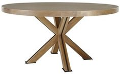 Round 60 Taunton Table  Metal, Wood, Dining Room Table by Curated Kravet