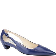 Prada pump with small heel and open sides, from spring summer 2014. www.wunderl.com