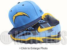 Youth San Diego Chargers New Era Navy/Powder Blue On Field Sport Cuffed Knit Hat