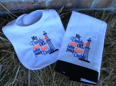 My Daddy Drills Better Then Your Daddy Bib Burp by treasures638, $19.50
