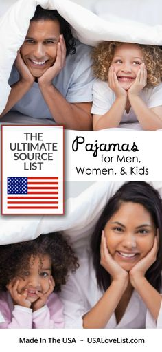 Pajamas for men, pajamas for women & kids | Made in USA |Ultimate source guide