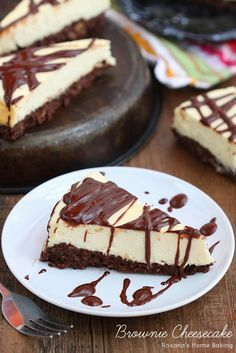 Rich nutty brownie topped with the lightest cheesecake I've ever made. This is the ultimate, guilt free brownie cheesecake! (1 stick butter, 16 oz cream cheese, 1/4c heavy cream, 4 eggs)