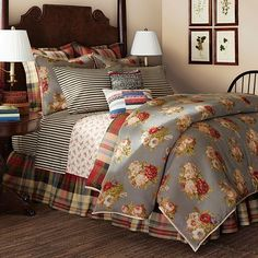 Chaps Hudson River Valley Comforter Collection Can't wait to have this on our bed!! The plaid will show instead of the floral, but the floral is nice for the reversible side.