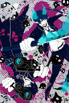 Ao no Exorcist (Blue Exorcist) Mobile Wallpaper - Zerochan Anime Image Board Ao No Exorcist, Blue Exorcist Anime, Fanart Manga, Manga Anime, Anime Art, Rin Okumura, Mephisto, Satan, Otaku