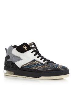 Coole Kenzo Sneaker met print en suède (Multicolor) Sneakers van het merk Kenzo voor Heren . Uitgevoerd in Meerdere kleuren gemaakt van Suede.