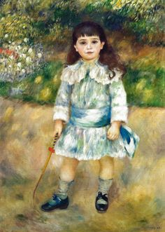 Pierre Auguste Renoir - Nina con una fusta, 1885 at The Hermitage Museum Exhibit at the National Museum of Prado Madrid Spain | by mbell1975