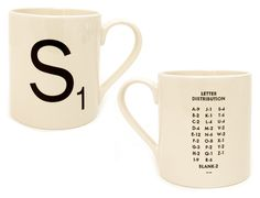 Scrabble tile coffee mug, to go with your Words With Friends obsession. #DearMom @Chronicle Books