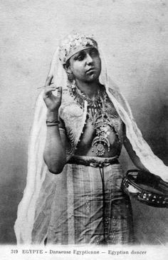 Africa | Egyptian Dancer.  || Vintage postcard; publisher Béhar et Fils.  No. 319
