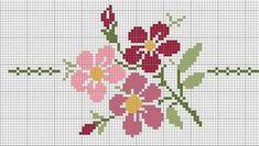 flores em ponto cruz                                                                                                                                                     Mais