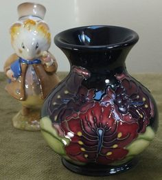 Moorcroft 3.5 vase Spider Flower M1/3 R Bishop Best Quality 1998 Training piece