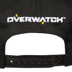 Overwatch Showdown Hat Black cap with contrasting brim yellow and eyelets.  Overwatch symbol embroidery on 5742a3fa8149