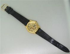 the Franklin Mint Skeleton Case  Gold Filled Watch. Available @ hamptonauction.com at the Fine Vintage and Modern Watch Auction on September 29th, 2014! Come preview our catalog!