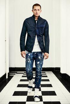 G-Star RAW. Summer Outfits Men, Casual Outfits, Denim Editorial, G Star Raw Jeans, Estilo Denim, Denim Jacket Men, Raw Denim, Clothing Co, School Fashion