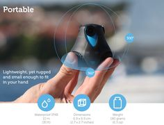 360cam, A 360-Degree HD Camera With Native YouTube Support and Built-In Wi-Fi and GPS