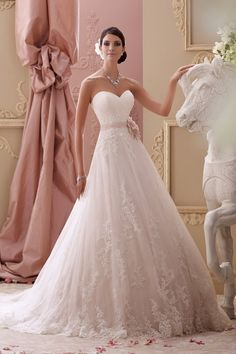 Wedding gown by David Tutera for Mon Cheri