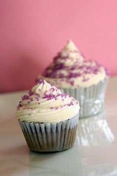 Grape soda pop cupcakes