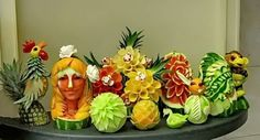 veg and fruit art | history although disputed the art of carving into fruits and vegetable ...