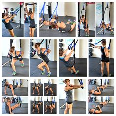 suspension trainer exercises for a full body workout. Bodyweight exercises you can do anywhere!