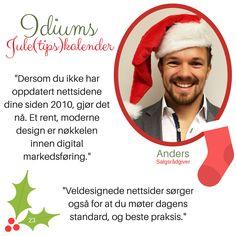 Idiums Jule (tips) kalender #julekalender #sosialemedier #markedsforing #digitalmarkedsføring #markedsføring #nettsider