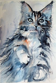 Kovacs Anna Brigitta | WATERCOLOR | Cat
