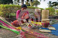 Wicker baskets, Indian handicrafts fair at Kolkata Editorial Photo