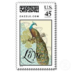 Peacock love postage stamps.