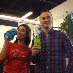 Our Dan & Amy with Silly Mugs from Score Promotions. #printedmugs #mugs #creative #designs #advertising #sillymugs #scorepromotions