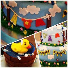 Duck Fondant Cake!!!