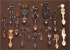 Welsh Love Spoons <3  I have one, would love to have this many!!