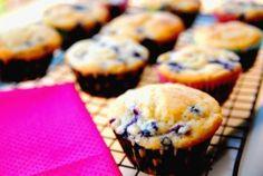 Back-to-school breakfast: Blueberry greek yogurt muffins