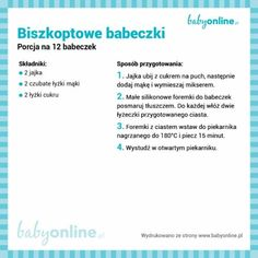 Biszkoptowe babeczki Baby Cooking, Cooking With Kids, Sweet Cakes, Lchf, Kids And Parenting, Baby Food Recipes, Sweet Treats, Food And Drink, Easy Meals