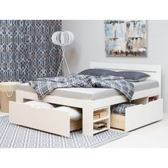 lit 140x200 avec rangements Toddler Bed, Bench, Storage, Furniture, Home Decor, Products, Home Ideas, Child Bed, Purse Storage