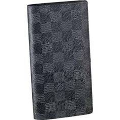 Louis Vuitton Brazza Wallet Damier Graphite Canvas N62665