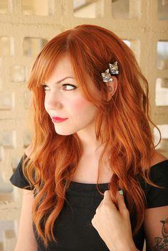 Long, red, wavy hair - love it!