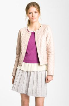Hinge® Quilted Leather Jacket   Nordstrom