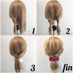 Hair weaves are a good concept for those who elegant some braids, dreadlocks or . Hair weaves are Kawaii Hairstyles, Work Hairstyles, Ponytail Hairstyles, Weave Hairstyles, Hair Ponytail, Japan Hairstyle, Medium Hair Styles, Short Hair Styles, Ribbon Hairstyle