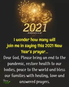 New Years Prayer, Happy New Year 2020, English Quotes, Dear God, Life Is Beautiful, Meant To Be, Prayers, Healing, Peace