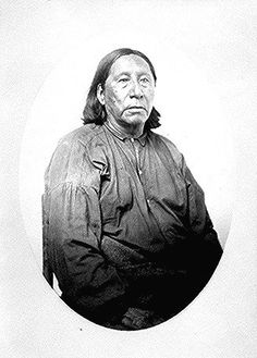 Little Raven (Hosa, Young Crow), Head Chief of the Arapaho; three-quarter-length, seated.  Photographed by William S. Soule, 1868-74.