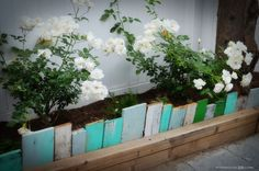 Scrap Wood Garden Edging from Farmhouse38